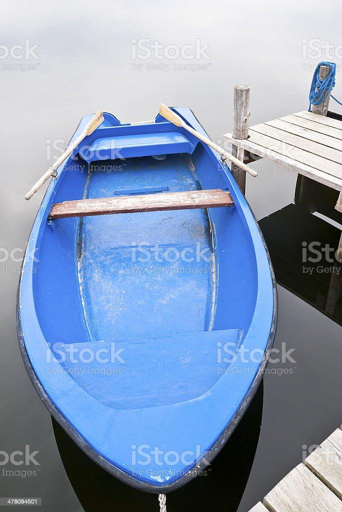 Boat at the jetty royalty-free stock photo