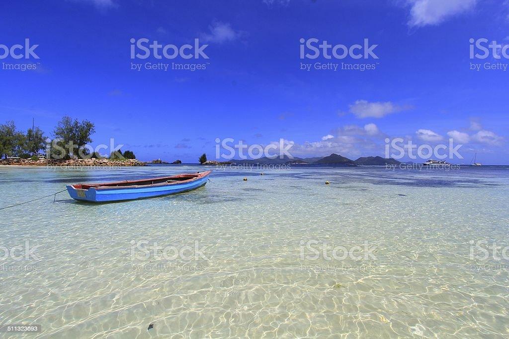 Boat, beach, ocean stock photo