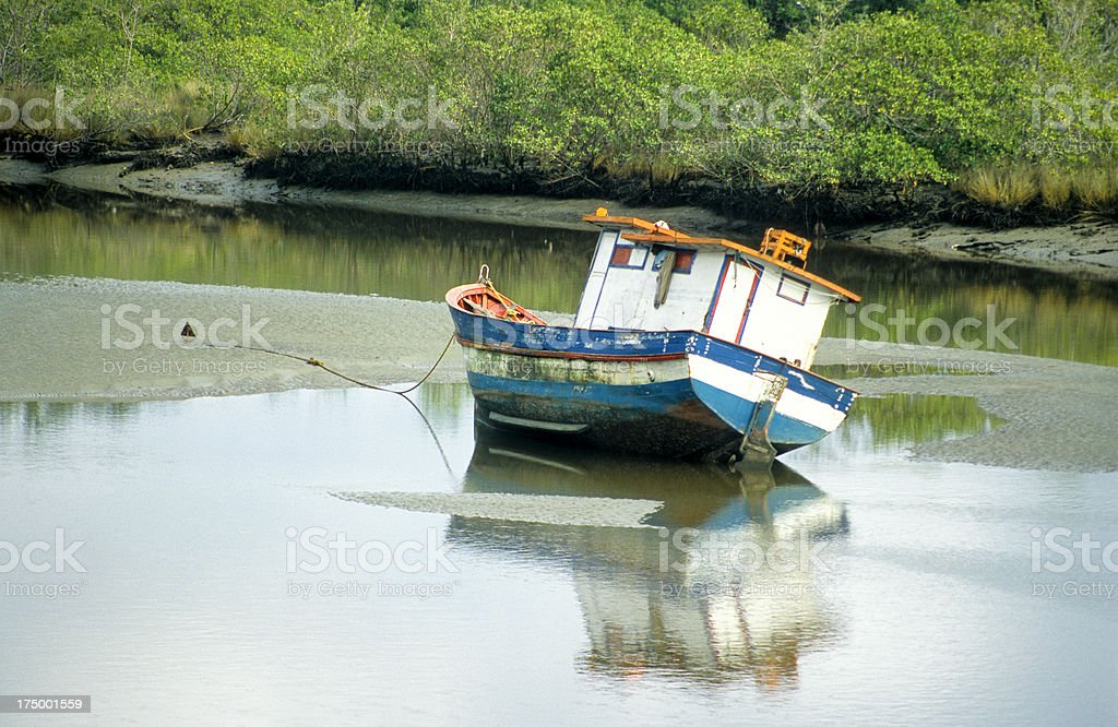Boat beached royalty-free stock photo