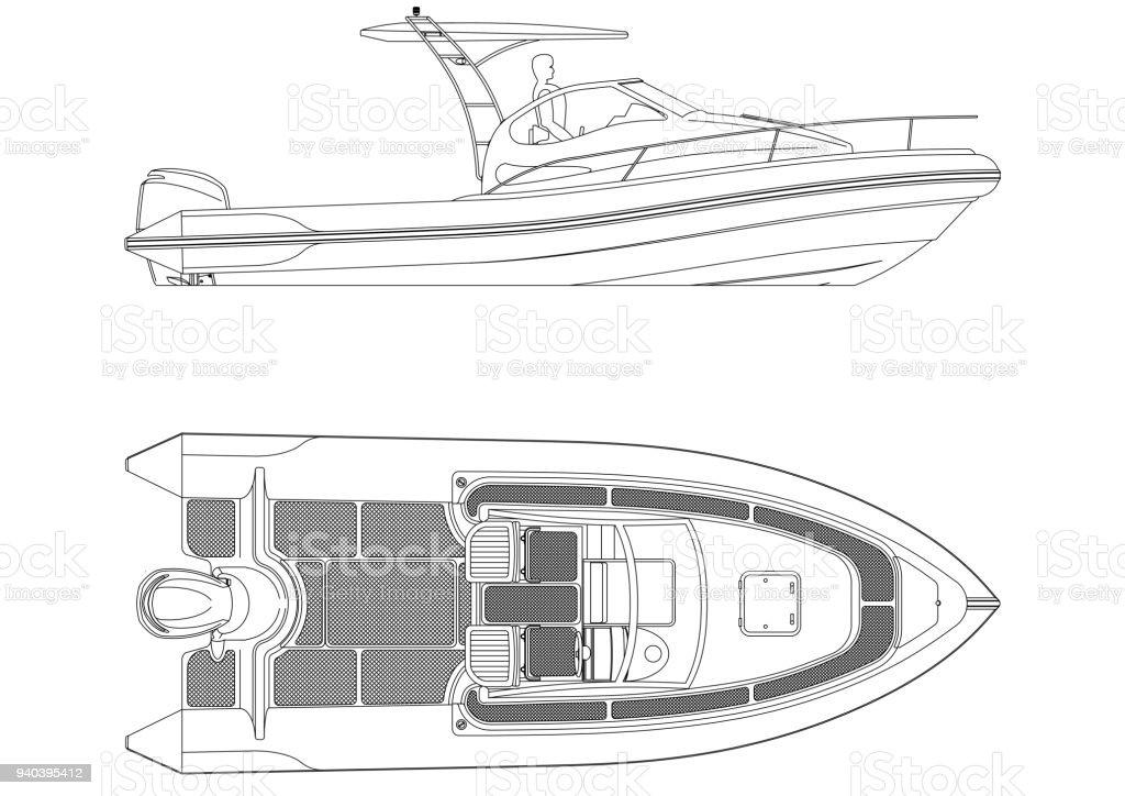 Boat blueprint isolated stock photo more pictures of architect boat blueprint isolated royalty free stock photo malvernweather Choice Image