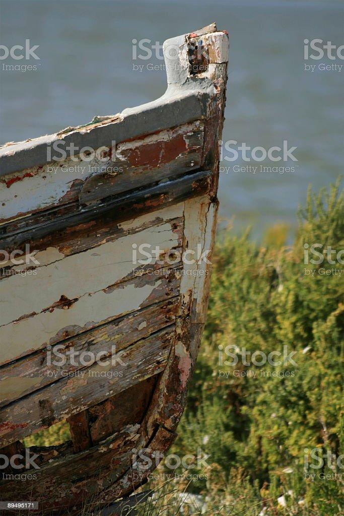 Barca con fiocco foto stock royalty-free