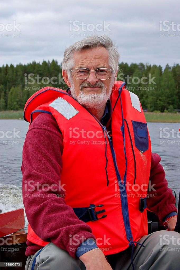 Boat captain royalty-free stock photo