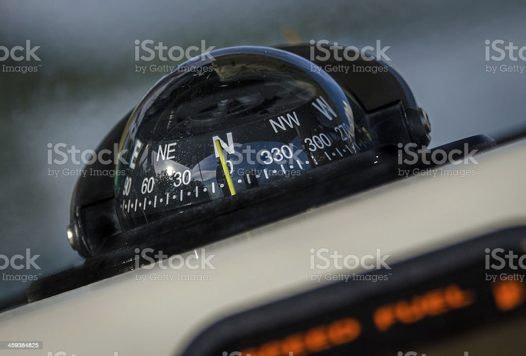Boat Compass stock photo