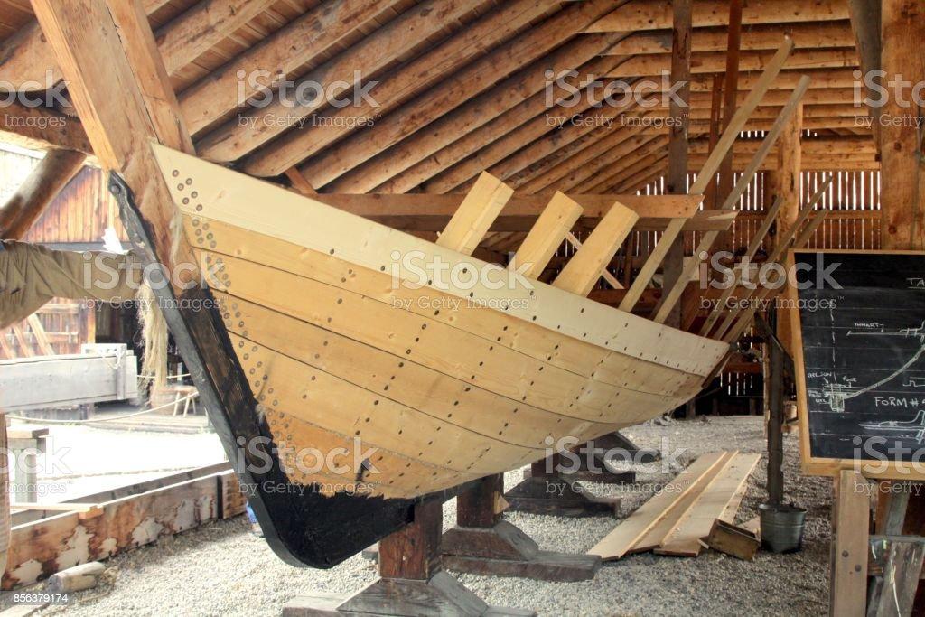 Boat Construction stock photo