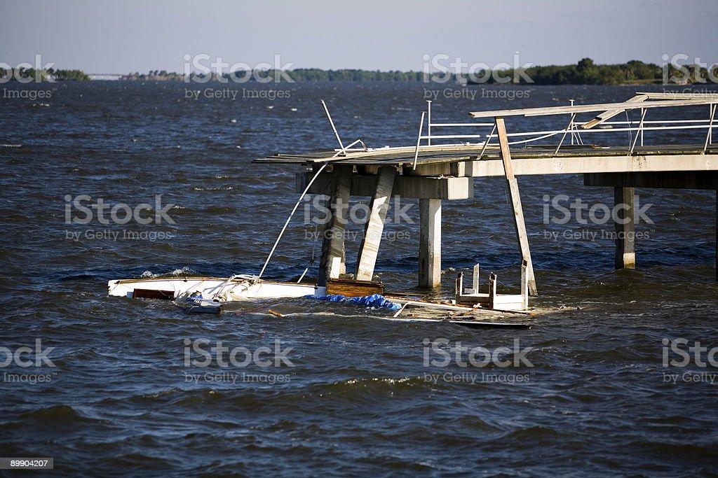 Barco de accidente foto de stock libre de derechos