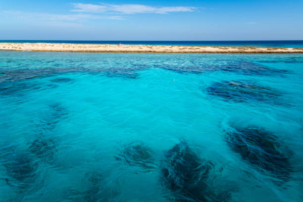 Boat cruise to Hamata atoll, Marsa Alam, Egypt stock photo