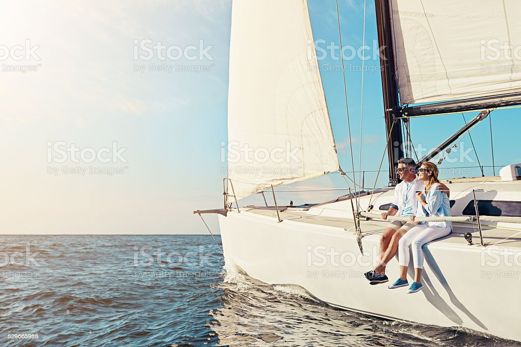 Boat cruises provide plenty of together time stock photo