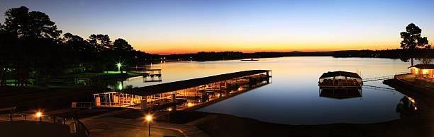 boat deck in sunrise stock photo