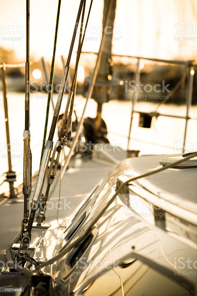 Boat Deck royalty-free stock photo