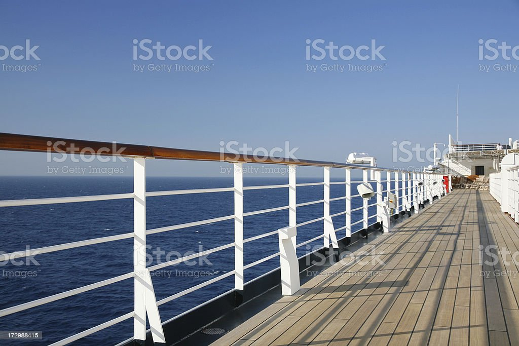 Boat Deck Railing royalty-free stock photo