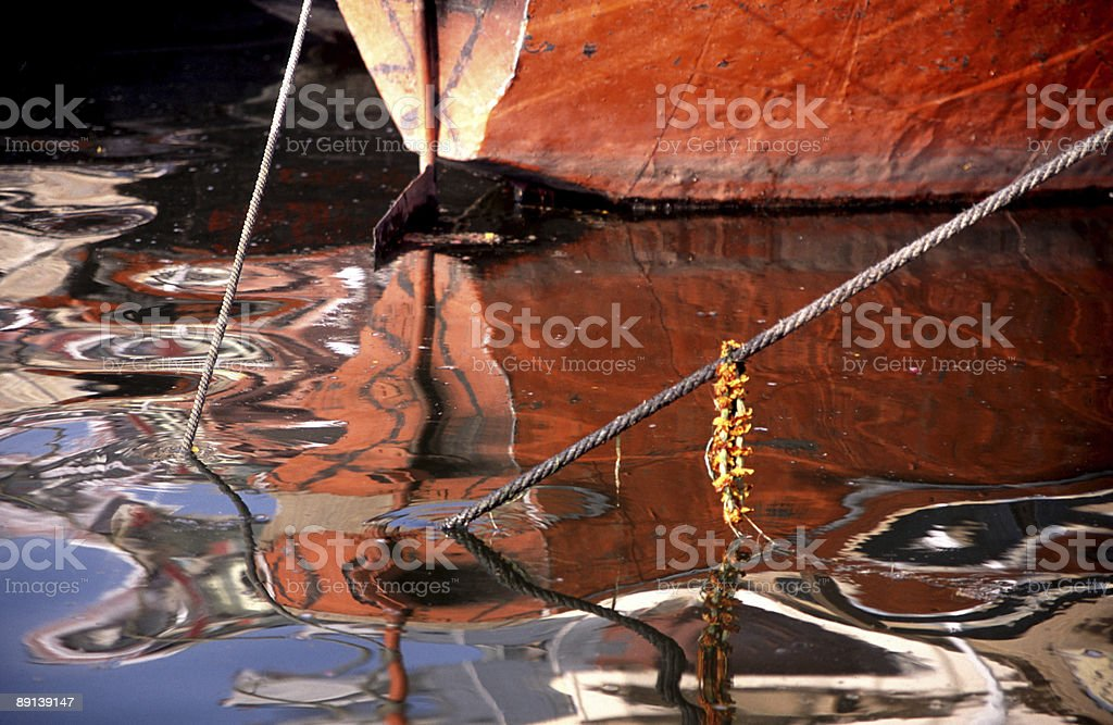 Boat detail, India royalty-free stock photo