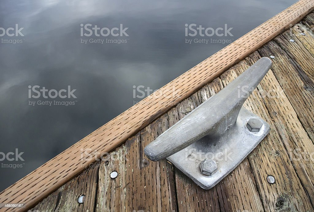 Boat dock and cleat royalty-free stock photo