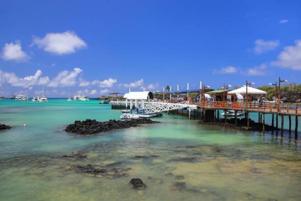 Bootsanlegestelle in Puerto Ayora, Santa Cruz Island, Galapagos, Ecuador – Foto