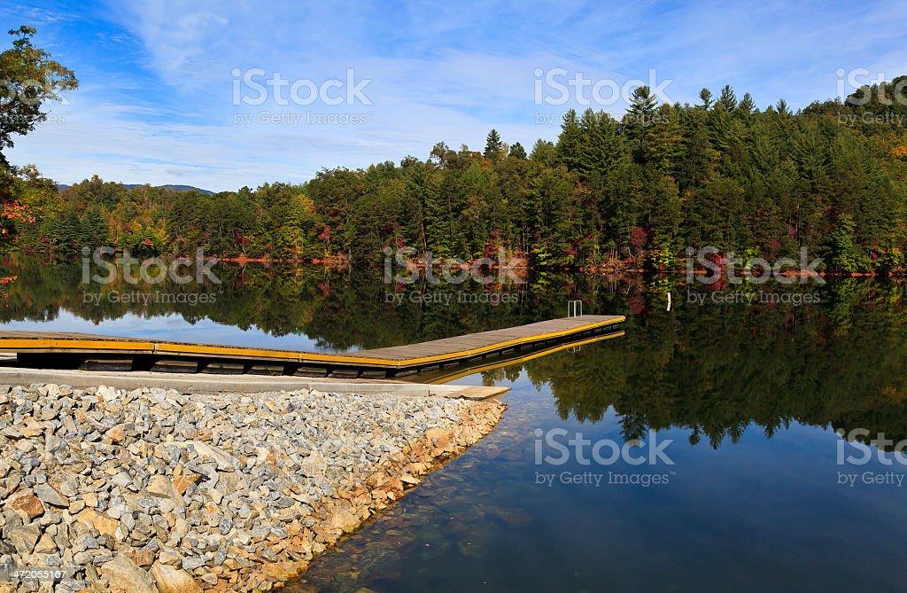 Boat Dock at the Lake stock photo