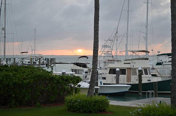 boat dock stock photo