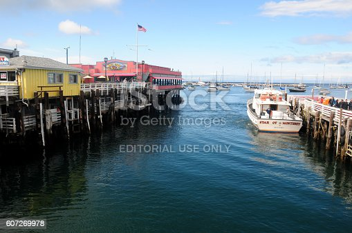 Monterey, California - April 22, 2016: Boat Docking Near Fisherman's Wharf