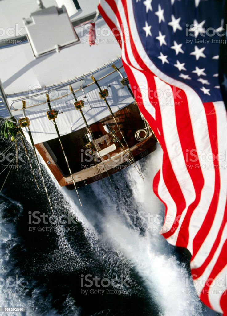 Boat driving scenes stock photo