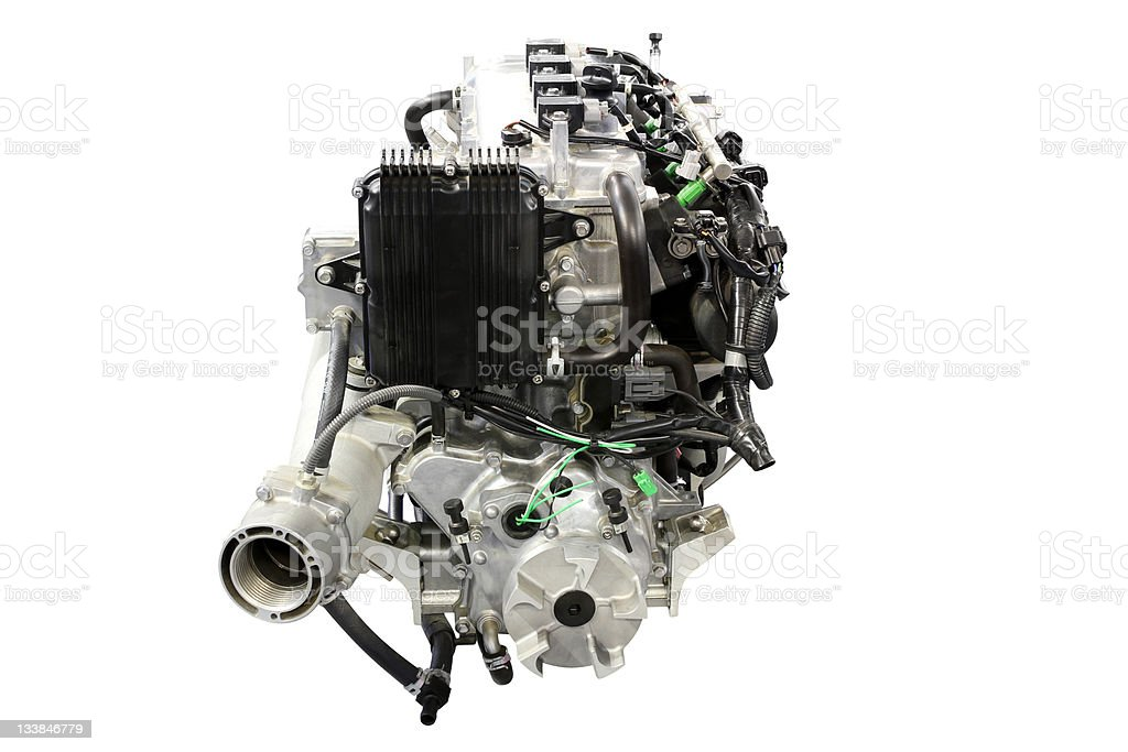 boat engine front view royalty-free stock photo