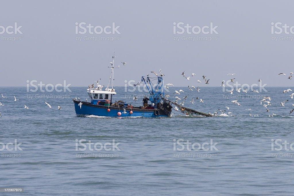 Boat fishing stock photo