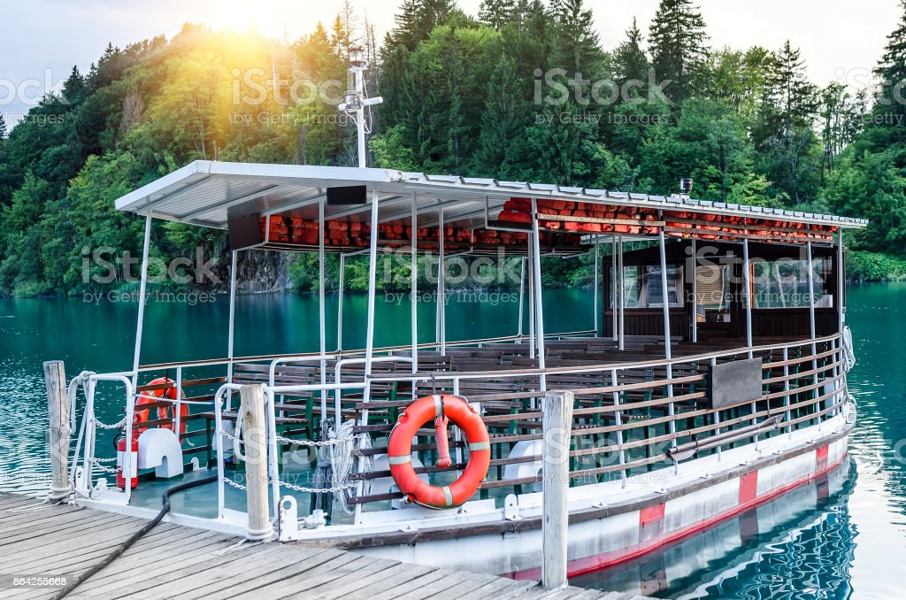 Boat for excursions without passengers. royalty-free stock photo