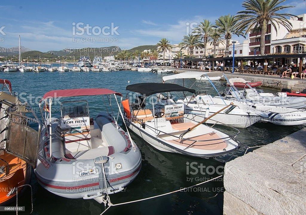 Boat for rent Port Andratx Mallorca Lizenzfreies stock-foto