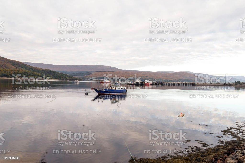 Boat Harbor at Fort William Scotland stock photo