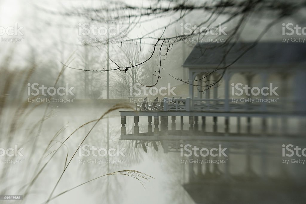 boat House, Blackberry Farm, Tennessee royalty-free stock photo