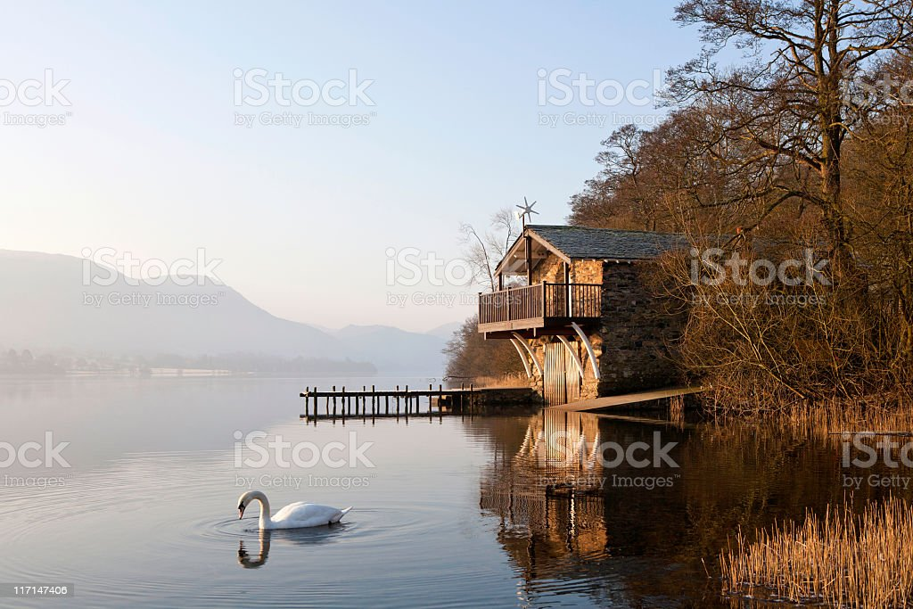 Boat house Lake district royalty-free stock photo