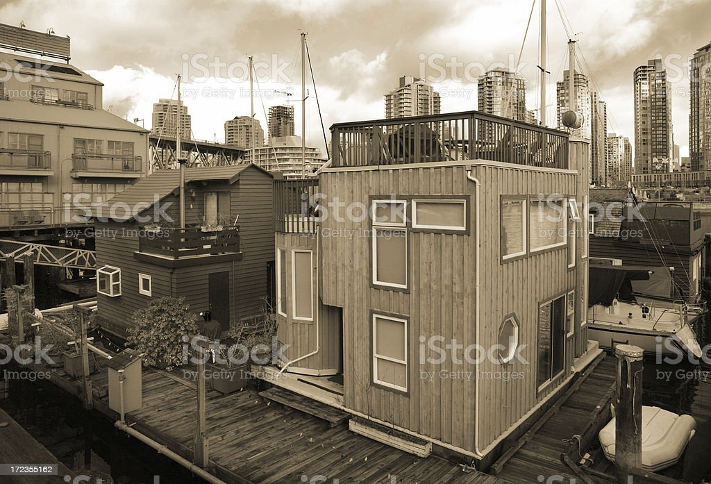 Boat Houses, Vancouver, Canada royalty-free stock photo