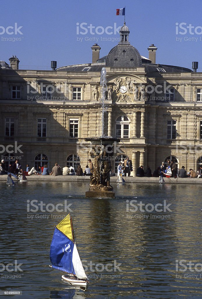 Boat in a Pond royalty-free stock photo