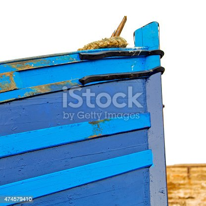 istock boat   in africa morocco  old harbor wood    and  abstract pier 474579410