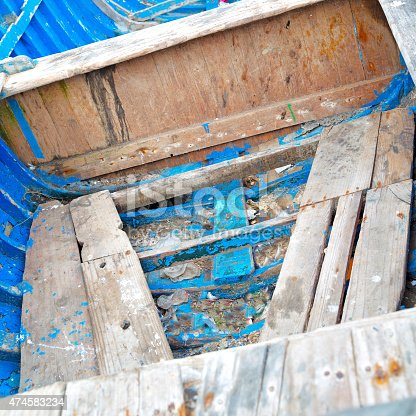 istock boat   in africa morocco  old harbor wood    and  abstract pier 474583234