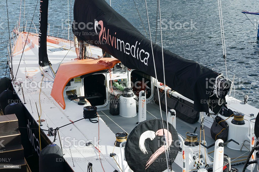 ALVIMEDICA boat in Cape Town, South Africa stock photo