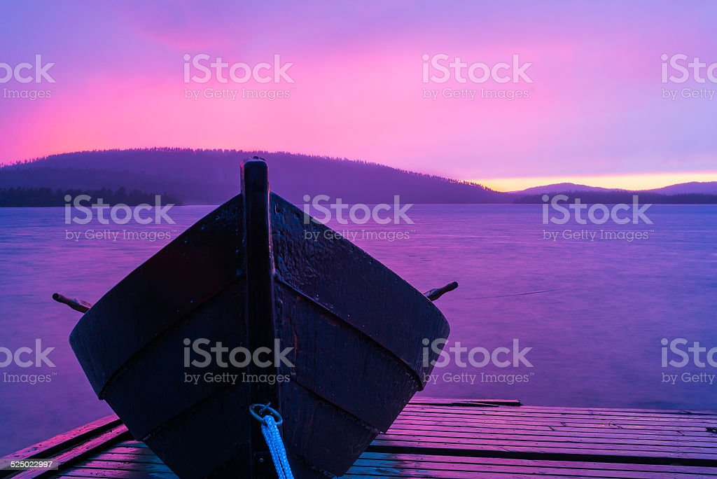 Boat in colors stock photo