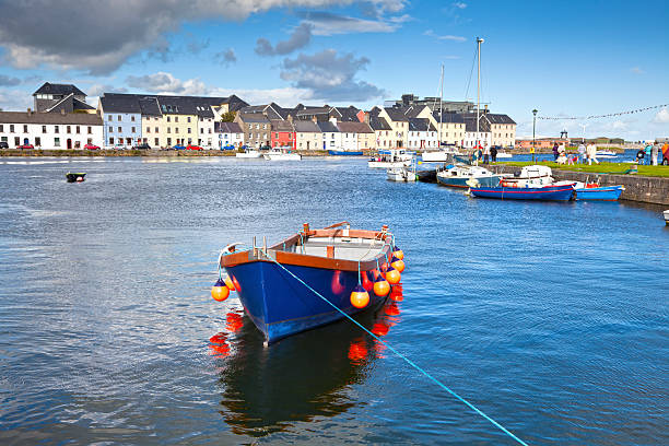 Boat In Galway Bay, Ireland stock photo