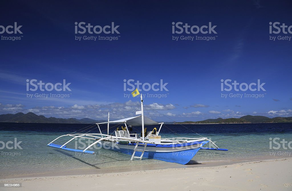 Boat in lagoon royalty-free stock photo