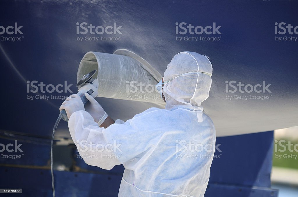 Boat in maintenance royalty-free stock photo