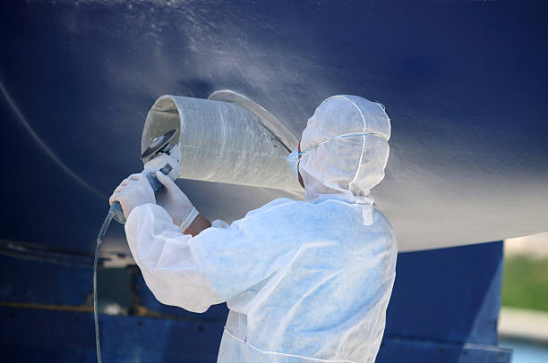 boat in maintenance - hull stock pictures, royalty-free photos & images