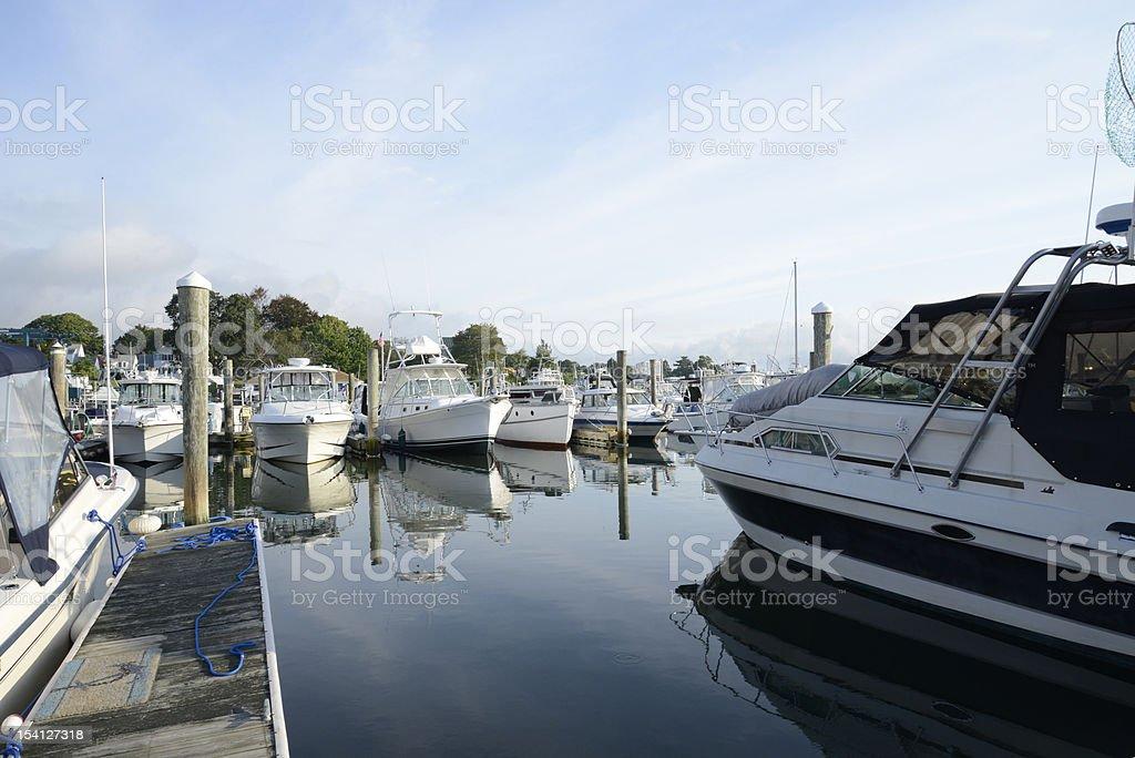 boat in marina royalty-free stock photo