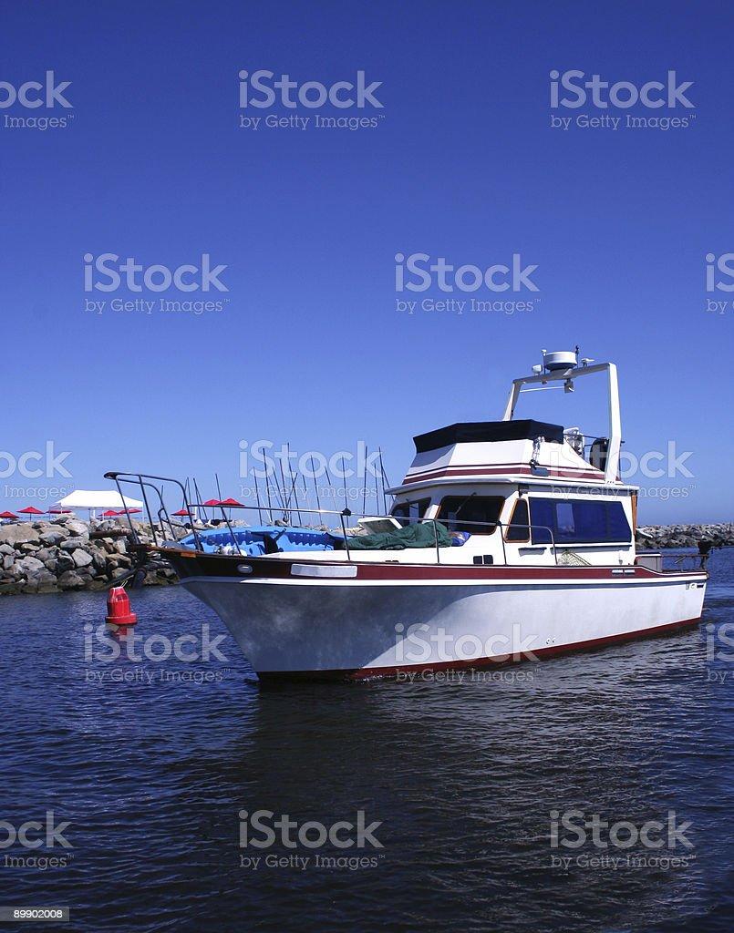 Boat in Ocean royalty-free stock photo