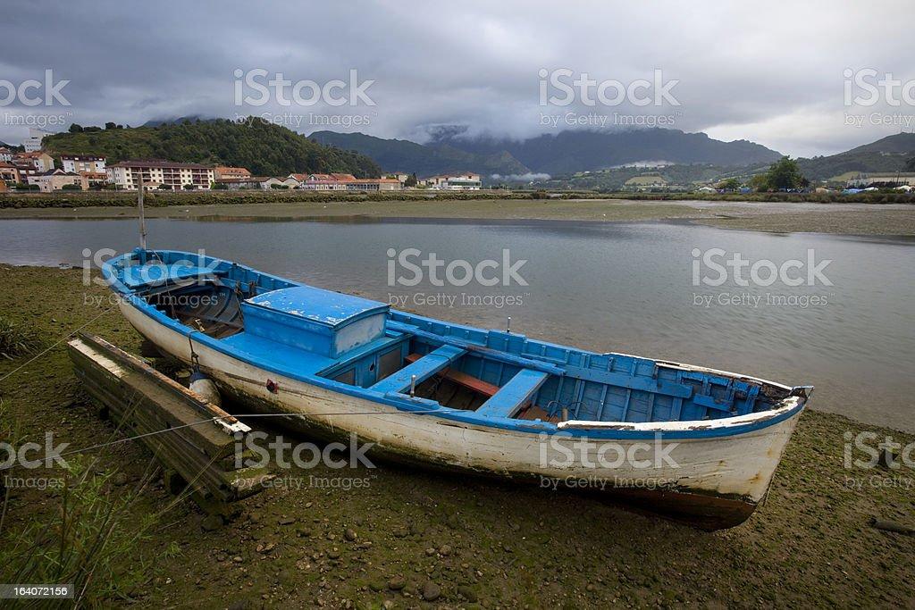 Boat in Ribadesella royalty-free stock photo