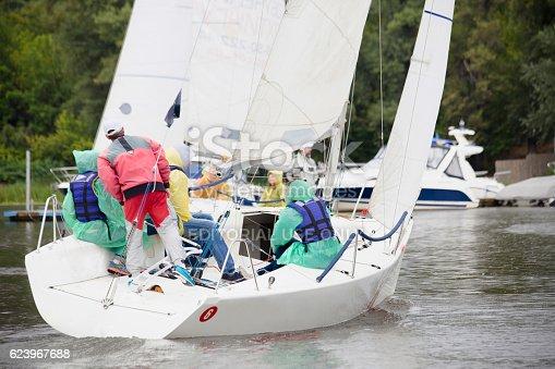 1011210354istockphoto Boat in sailing regatta 623967688