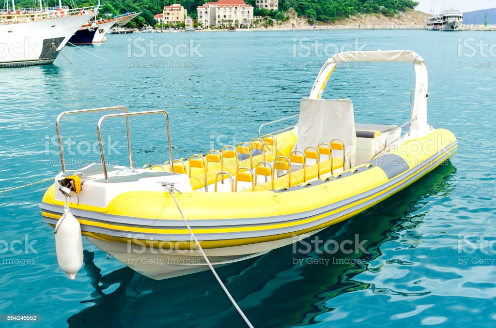 Boat in seaport. royalty-free stock photo