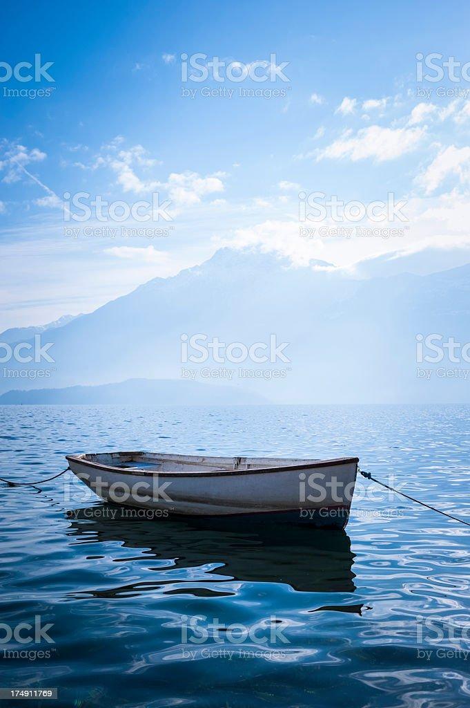 Boat in the lake stock photo
