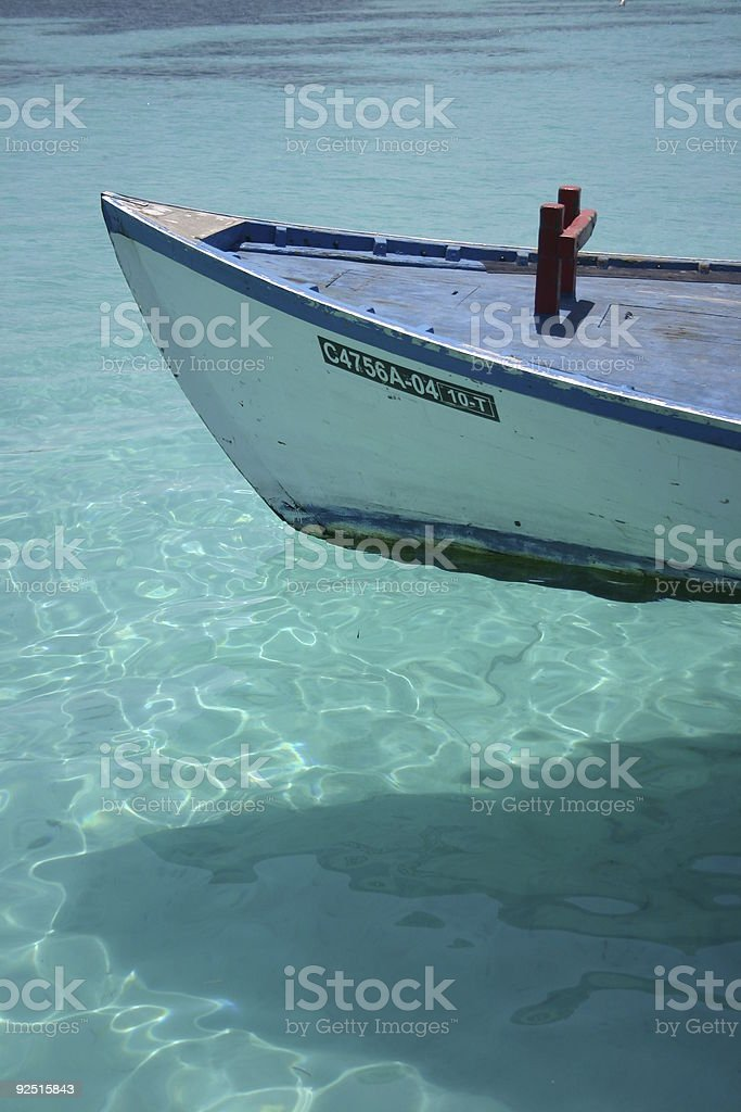 boat in the maldives royalty-free stock photo