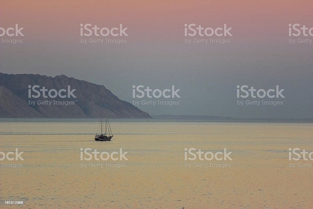 Boat in the Red Sea royalty-free stock photo