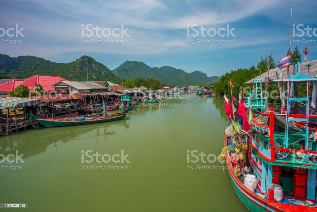 Boat in the tropical sea stock photo