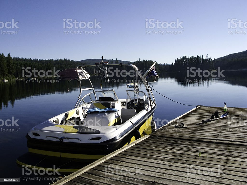 Boat in the water. stock photo