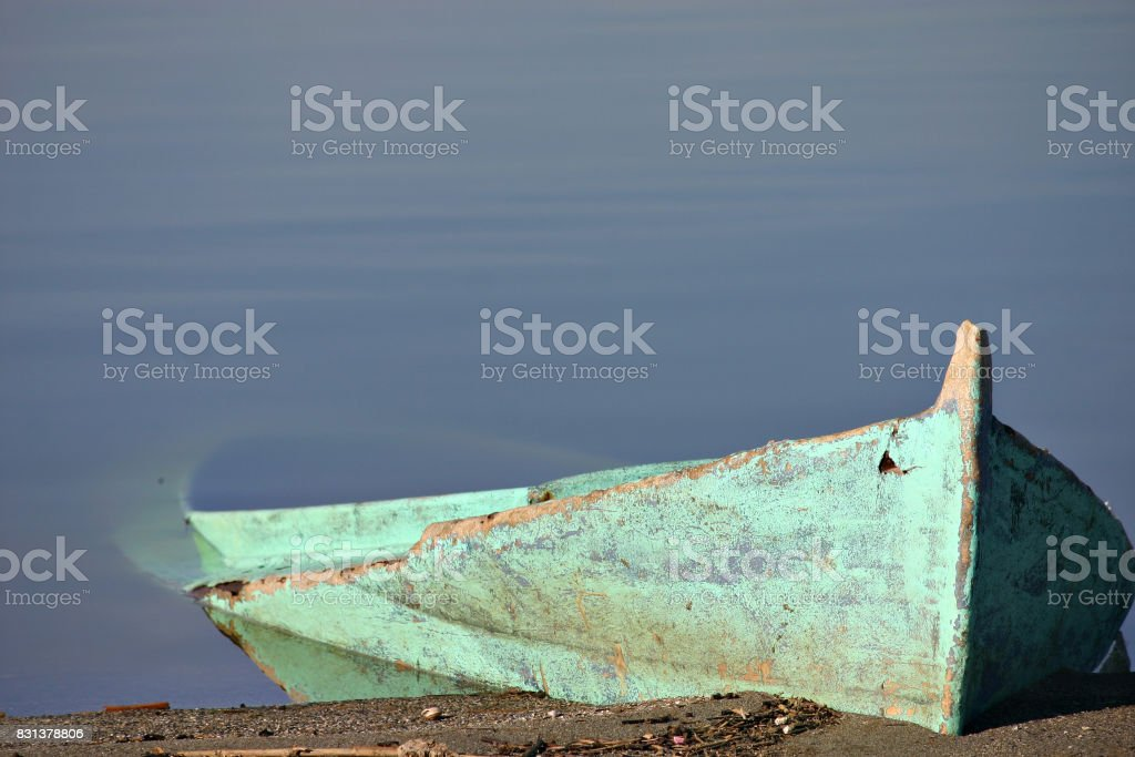 Boat in the water stock photo