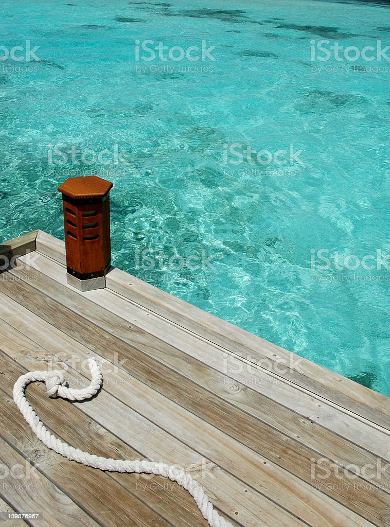 boat is gone royalty-free stock photo